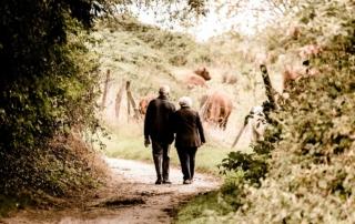 Senioren wandern zusammen